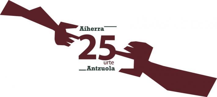LOGO 25 Urteak ANTZUOLA AIHERRA