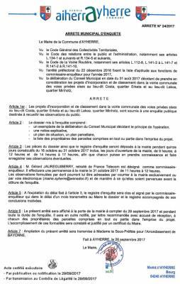 Arrete municipal 29092017