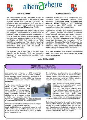 Feuillet hiver 2017 2017ko neguko aldizkaria