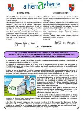 Feuillet municipal aldizkaritxoa