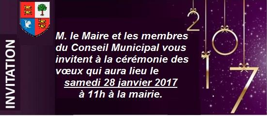 Invitation voeux du maire 2017