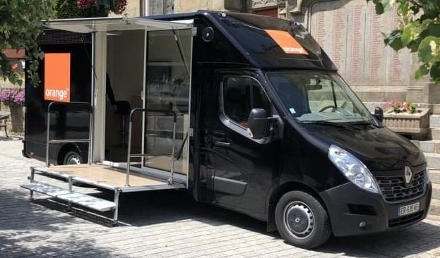 Orange truck 1