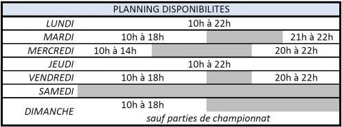 Planning dispo