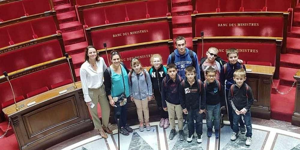 Les écoliers de l'Immaculée Conception à Paris